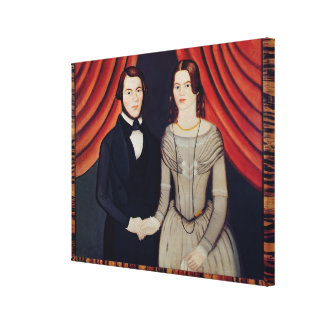 Portrait of Newly-weds Canvas Print