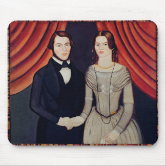 Portrait of Newly-weds Mouse Pad