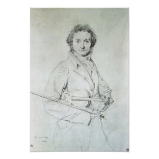 Portrait of Niccolo Paganini  1819 Poster