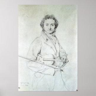 Portrait of Niccolo Paganini  1819 Poster