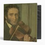 Portrait of Niccolo Paganini 3 Ring Binder