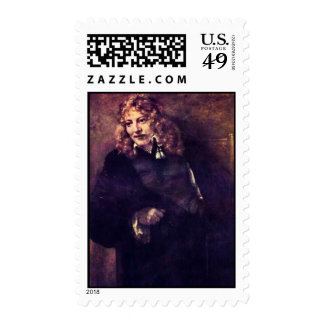 Portrait Of Nicholas Bruyningh By Rembrandt Postage