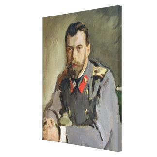 Portrait of Nicholas II, 1900 Canvas Print