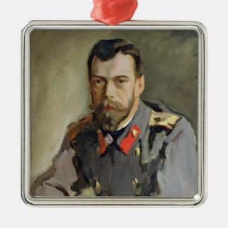 Portrait of Nicholas II, 1900 Metal Ornament