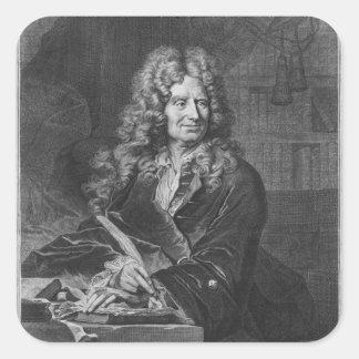 Portrait of Nicolas Boileau Square Sticker