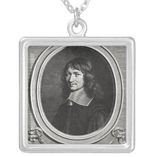 Portrait of Nicolas Fouquet  1662 Square Pendant Necklace