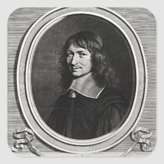 Portrait of Nicolas Fouquet  1662 Square Sticker