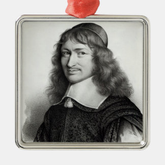 Portrait of Nicolas Fouquet  engraved by Maurin Metal Ornament