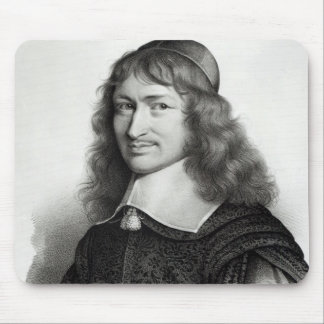 Portrait of Nicolas Fouquet  engraved by Maurin Mouse Pad