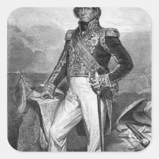 Portrait of Nicolas Jean-de-Dieu Square Sticker
