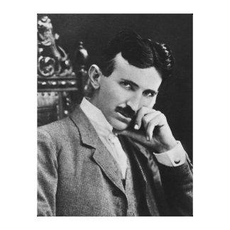 Portrait of Nikola Tesla Canvas Prints