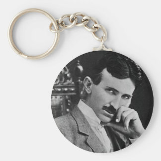 Portrait of Nikola Tesla Keychain