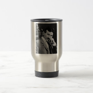 Portrait of Nikola Tesla 15 Oz Stainless Steel Travel Mug