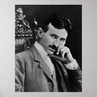 Portrait of Nikola Tesla Posters