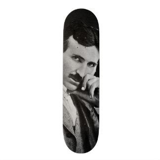 Portrait of Nikola Tesla Skateboard Deck