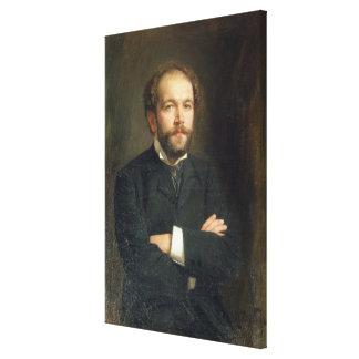 Portrait of Nikolai Karlovich Medtner  1906 Canvas Print