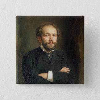 Portrait of Nikolai Karlovich Medtner  1906 Pinback Button