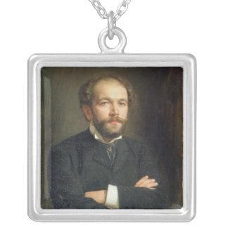 Portrait of Nikolai Karlovich Medtner  1906 Silver Plated Necklace