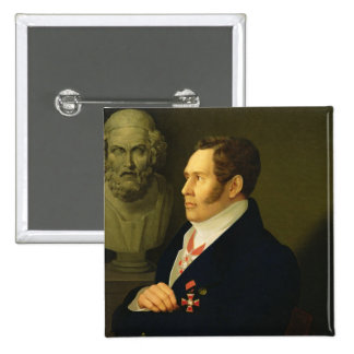 Portrait of Nikolay Gnedich, 1839 Pinback Button