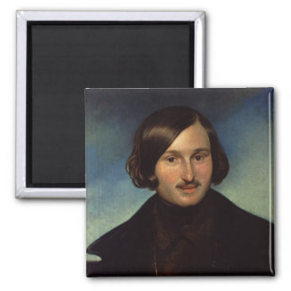 Portrait of Nikolay Gogol, 1841 2 Inch Square Magnet