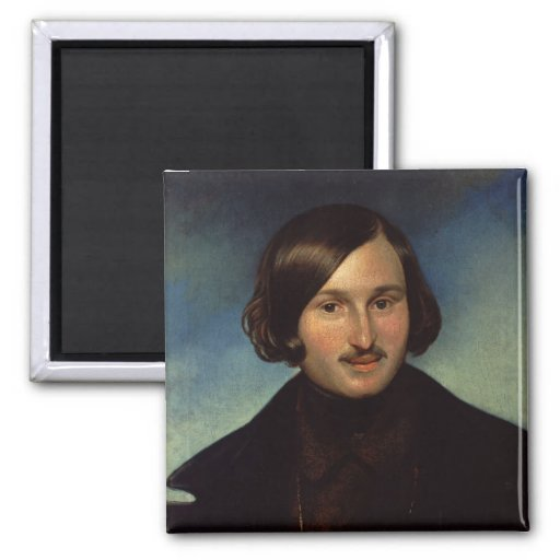 Portrait of Nikolay Gogol, 1841 2 Inch Square Magnet