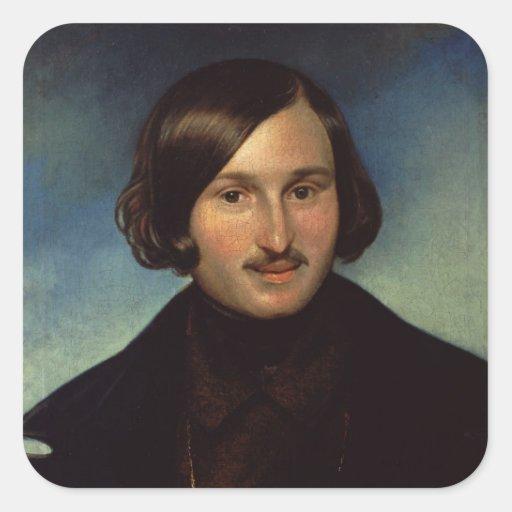 Portrait of Nikolay Gogol, 1841 Square Sticker