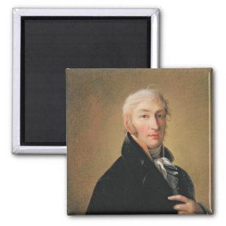 Portrait of Nikolay Mikhaylovich Karamzin , 1805 2 Inch Square Magnet