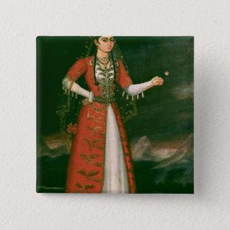 Portrait of Nino Eristavi, Iranian, 1829 Button