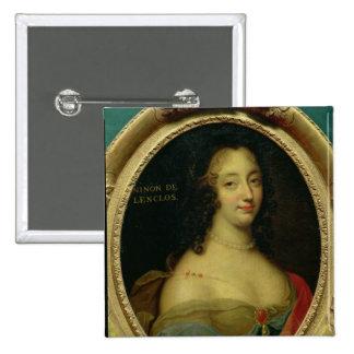 Portrait of Ninon de Lenclos 2 Inch Square Button