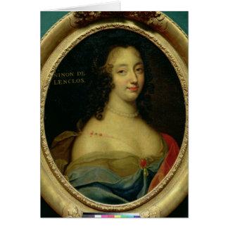 Portrait of Ninon de Lenclos Greeting Card