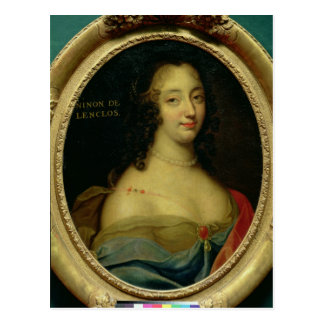 Portrait of Ninon de Lenclos Postcard