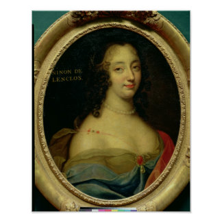 Portrait of Ninon de Lenclos Poster