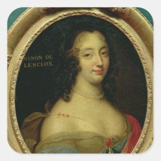 Portrait of Ninon de Lenclos Square Sticker