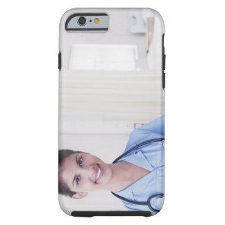 Portrait of nurse in hospital tough iPhone 6 case