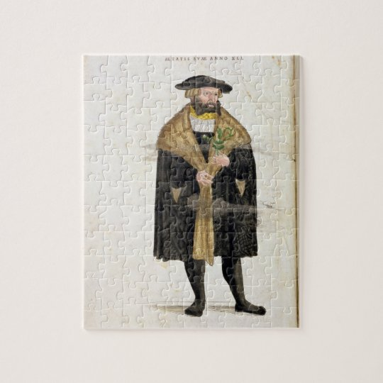 Portrait of of the author age 41, from 'De Histori Jigsaw Puzzle