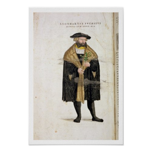 Portrait of of the author age 41 from De Histori Poster