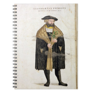 Portrait of of the author age 41, from 'De Histori Spiral Notebook