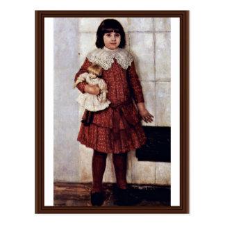 Portrait Of Olga Surikova Vasilyevna The Artist'S Postcard