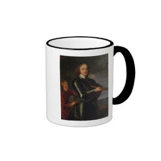 Portrait of Oliver Cromwell Ringer Coffee Mug