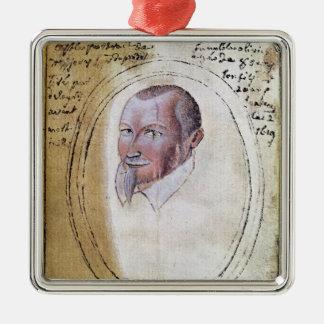 Portrait of Olivier de Serres Metal Ornament