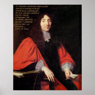 Portrait of Olivier Lefevre Poster