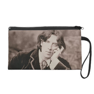 Portrait of Oscar Wilde (1854-1900), 1882 (b/w pho Wristlet Clutches
