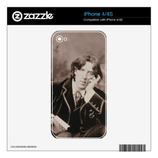 Portrait of Oscar Wilde (1854-1900), 1882 (b/w pho iPhone 4 Decal