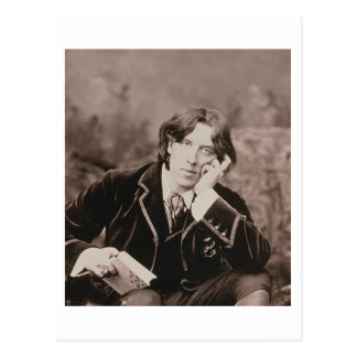 Portrait of Oscar Wilde (1854-1900), 1882 (b/w pho Postcard
