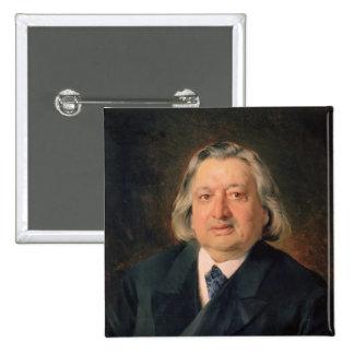 Portrait of Ossip Petrov , 1870 2 Inch Square Button