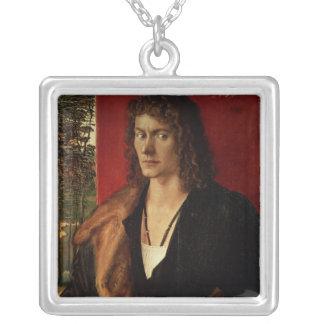 Portrait of Oswolt Krel, 1499 Silver Plated Necklace