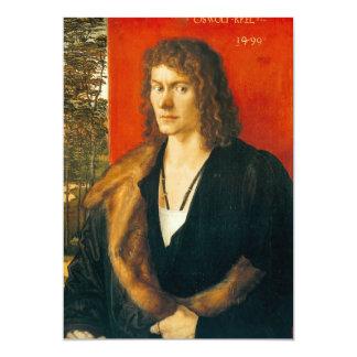 Portrait of Oswolt Krel by Albrecht Durer Card