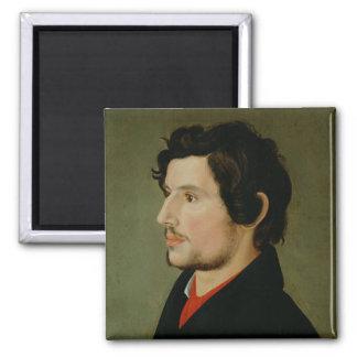 Portrait of Otto Sigismund Runge 2 Inch Square Magnet