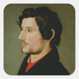 Portrait of Otto Sigismund Runge Square Sticker