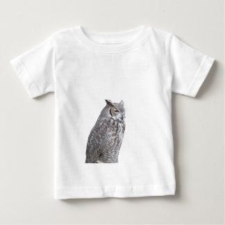Portrait of owl isolated on white background baby T-Shirt